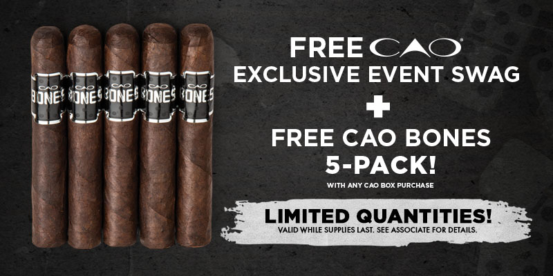 FREE EXCLUSIVE SWAG + FREE CAO BONES 5 PACK