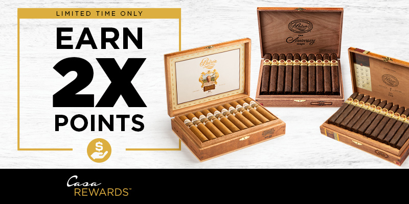 EARN 2X POINTS ON PADRON!