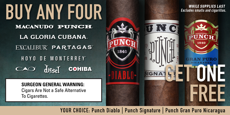 General Punch Promo Buy 4 Get 1: