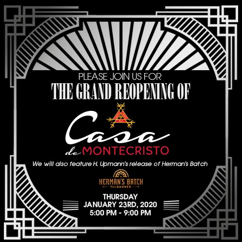 Join us for the grand reopening of Casa de Montecristo
