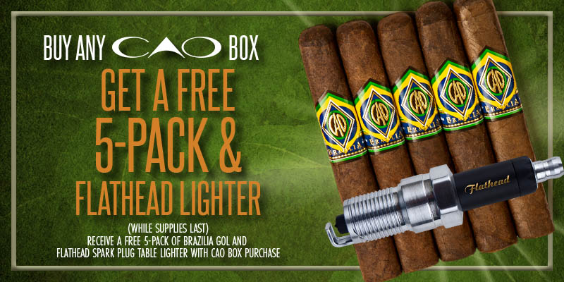 CAO Buy a Box get  a 5 pack plus a table lighter