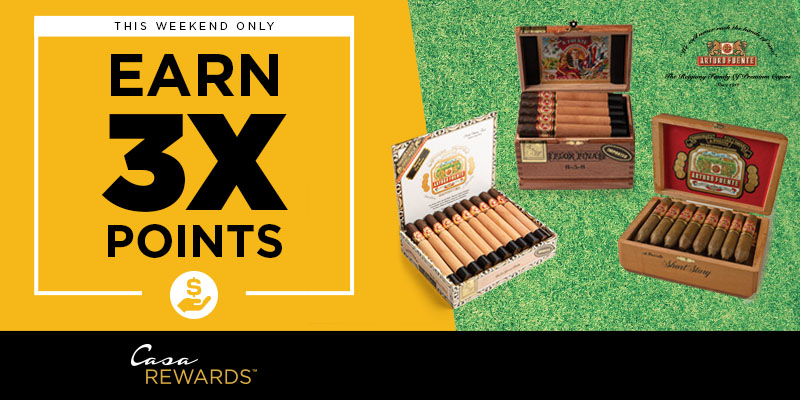 EARN 3X POINTS ON FUENTE