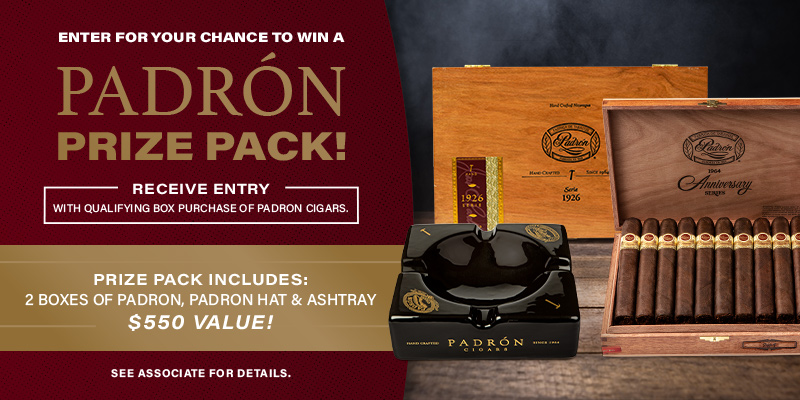 ENTER TO WIN A PADRON PRIZE PACK!